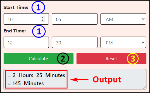 How to use Hours Calculator?